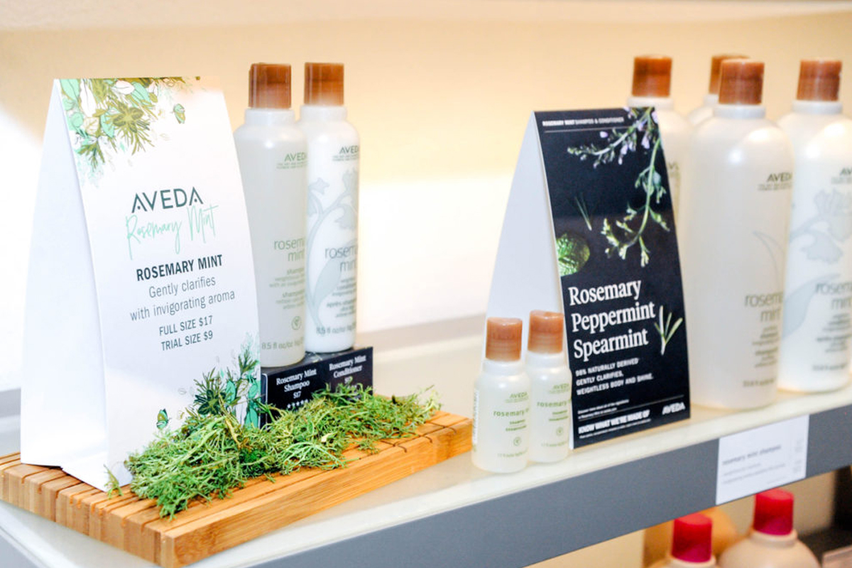 Aveda products at MK Willow & Co. Salon